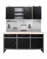 Ondis24 Werkstatteinrichtung aus: Werkbank Werktisch Montagewerkbank Werkstatttisch Schubladenschrank Werkstatt - 1
