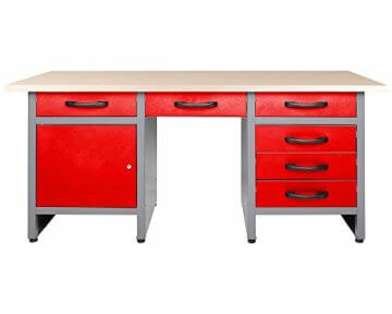 Ondis24 Werkstatteinrichtung rot 160 cm breit, Werkbank Harry, 2x Werkzeugschrank, Werkzeugwand - 2