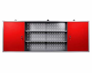 Ondis24 Werkstatteinrichtung rot 160cm, Werkstatt - Werkbank, Hängeschrank, Euro - Lochwand mit Haken - 6
