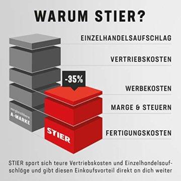 STIER Werkbank Premium, mit 10 Schubladen, BxTxH 2000x700x840mm, Hergestellt in Deutschland, aus Stahl und Buche, Werktisch, umweltfreundlich Pulverbeschichtet, Montagewerkbank - 3