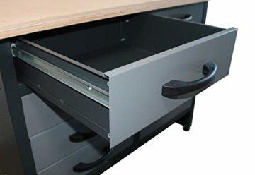 Werkbank 170 cm 15 Schubladen Werkzeugschrank Werkstatteinrichtung Profiqualität - 4