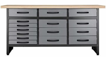 Werkbank 170 cm 15 Schubladen Werkzeugschrank Werkstatteinrichtung Profiqualität - 1