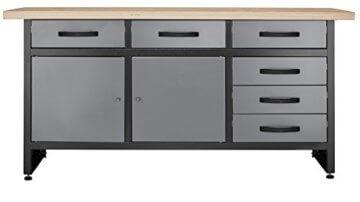 Werkbank mit 6 Schubladen Profiqualität für die Werkstatt 170 cm - 1